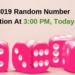 TNEA 2019 Random Number