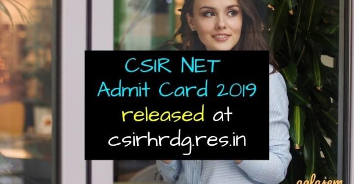 csir net admit card