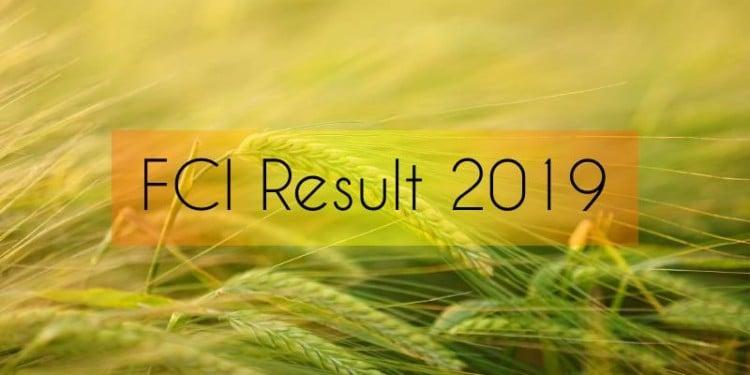FCI Result 2019