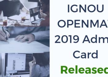 IGNOU-OPENMAT-2019-Admit-Card-Released-Aglasem
