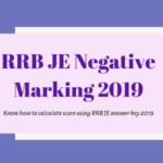 RRB JE Negative \Marking