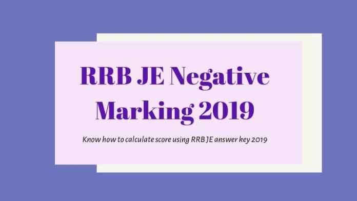 RRB JE Negative \Marking