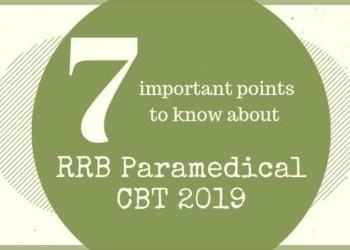 RRB Paramedical CBT 2019