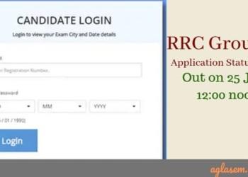 RRC Group D Application Status 2019