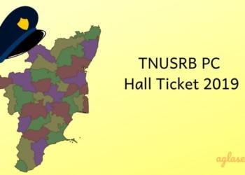 TNUSRB Hall Ticket 2019