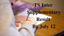 TS Inter Supplementary Result By July 12
