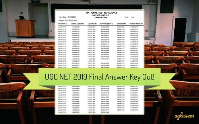 UGC NET Final Answer Key 2019