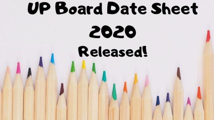 UP Board Date Sheet 2020