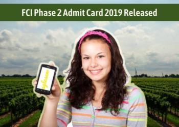 FCI Admit Card 2019 Phase 2