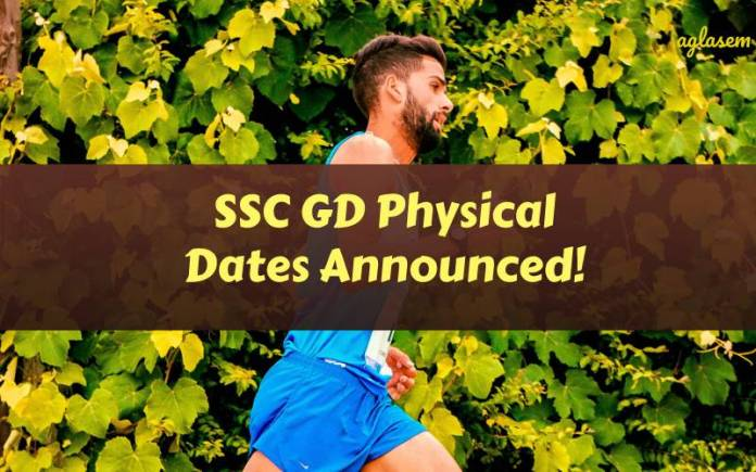 ssc gd physical date