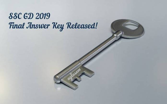 ssc gd revised key