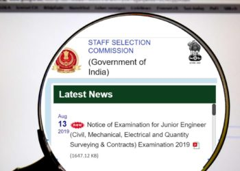 SSC JE 2019 Notification