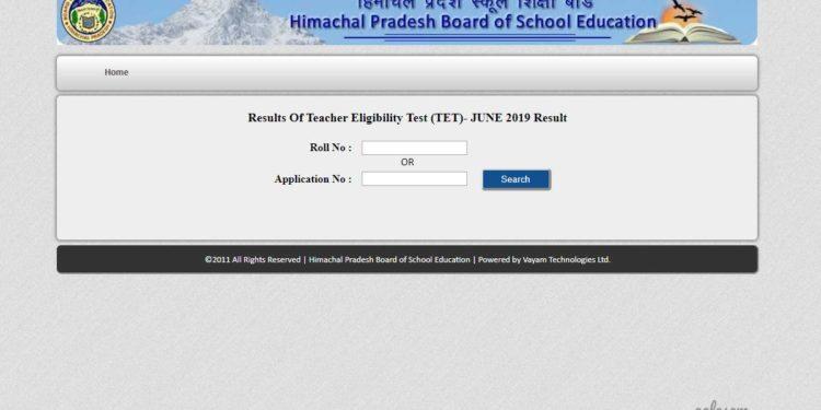 HPBOSE Declares HP TET Result 2019 at hpbose.org