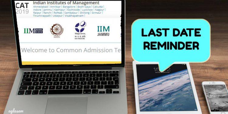 """CAT 2019 registration deadline today, Apply @ iimcat.ac.in before 5 pm"""" is locked CAT 2019 registration deadline"""