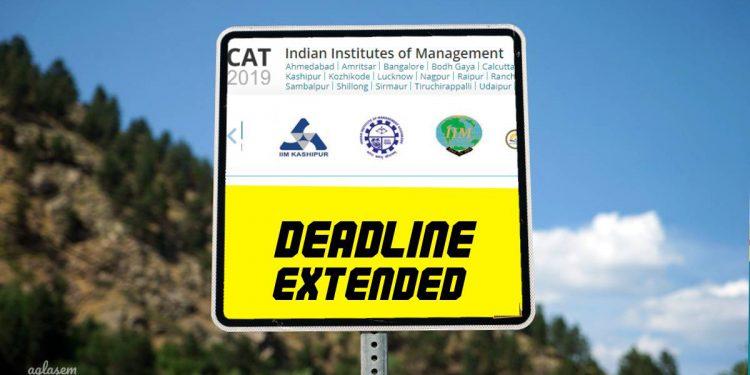 CAT 2019 Registration deadline extended