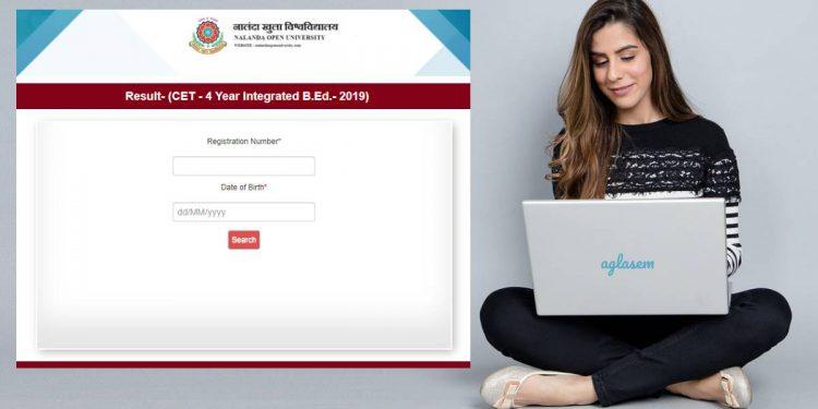 Nalanda Open University Bihar 4yr Integrated B.Ed CET result