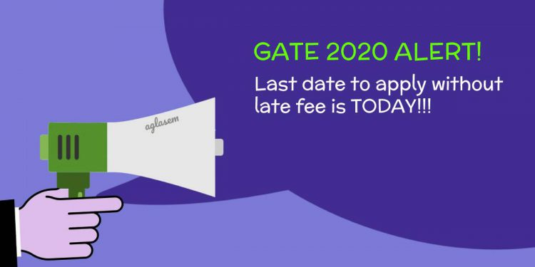 GATE 2020 Last date to apply