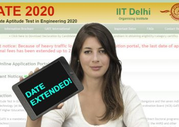 GATE 2020 Last date application form