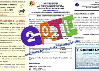 GATE 2021 Registration PSU Notification
