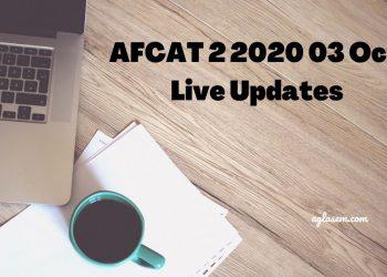 AFCAT 2 2020 03 Oct Live Updates