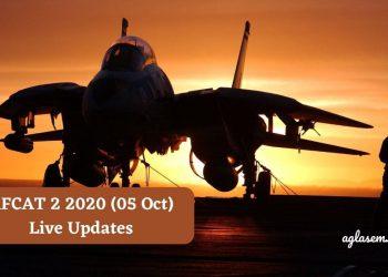 AFCAT 2 2020 (05 Oct) Live Updates