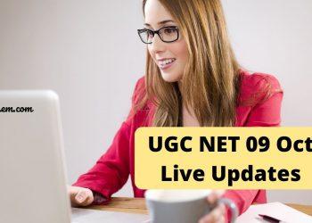 UGC NET 09 Oct Live Updates