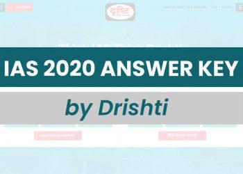 IAS Answer Key 2020 Drishti IAS