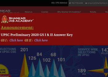 shankar ias csat 2020 answer key
