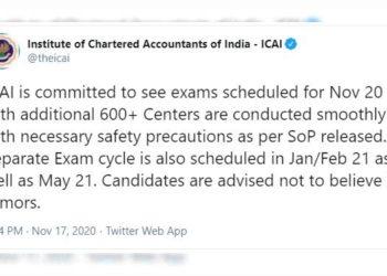 CA Exam Nov 2020