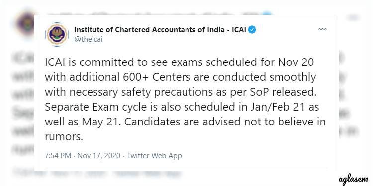CA Exam Nov 2020