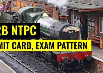 RRB NTPC Admit Card Exam Pattern