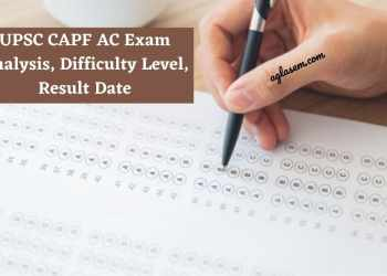 UPSC CAPF AC Exam analysis