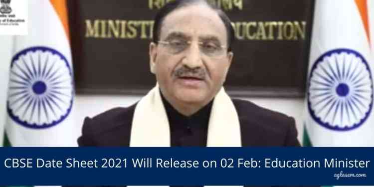 CBSE Date Sheet 2021 Will Release on 02 Feb_ Education Minister