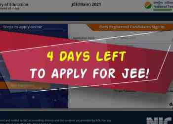 JEE Main 2021 4 Days Left To Apply