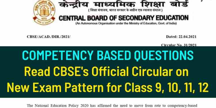 CBSE Competency Based Questions