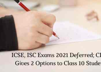 CISCE Board Exams 2021