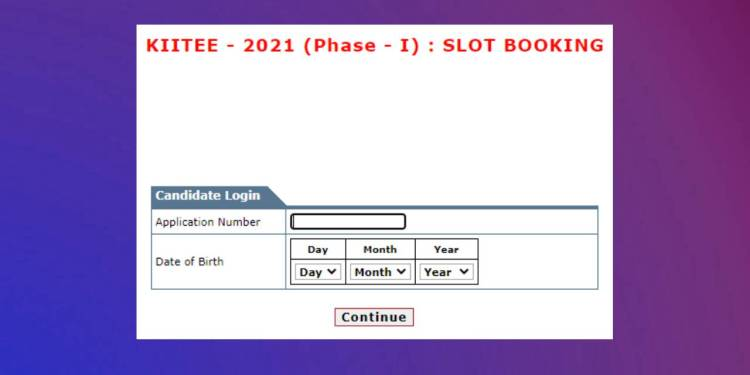 KIIT Slot Booking 2021
