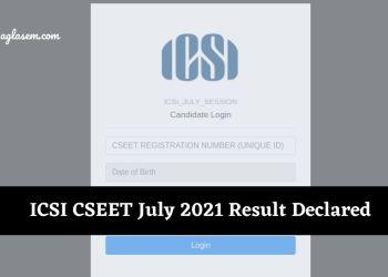 ICSI CSEET 2021 Result