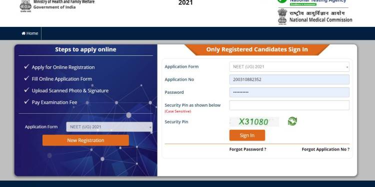 NEET 2021 Application Form Out