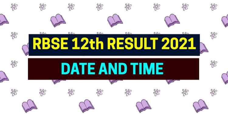 RBSE 12th Result 2021 Date Time