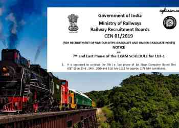 RRB NTPC Phase 7 Exam Date