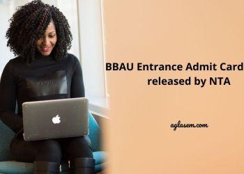 BBAU Entrance Admit Card 2021